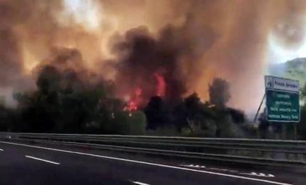 """Incendio su A1, Il Volo: """"Mai visto niente del genere"""""""