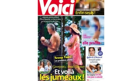 George Clooney querela magazine francese per foto rubate gemelli