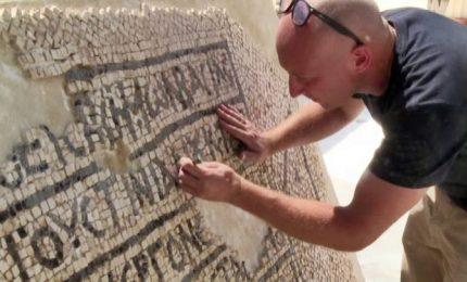 Scoperto a Gerusalemme un mosaico bizantino unico del VI secolo