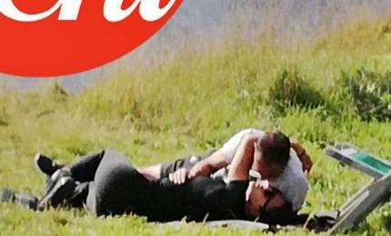 Allegri e Ambra Angiolini fuga d'amore in val Badia