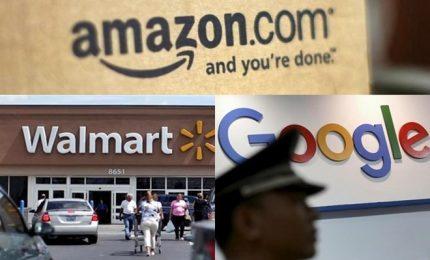 """Wal-Mart e Google nella """"lotta"""" ad Amazon"""