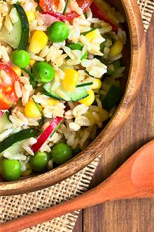 Piatto freddo e veloce, l'insalata di riso