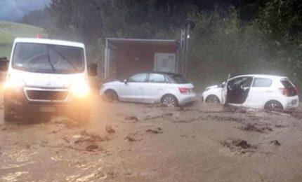 Ondata di maltempo in Val Pusteria: finora 80 interventi, l'Hotel Brückele è stato isolato