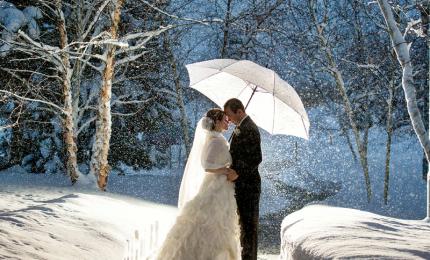 Il matrimonio in inverno è sempre di moda: location, abbigliamento e trucco
