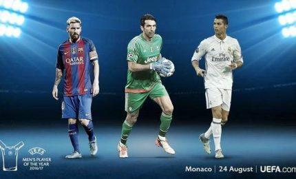 Giocatore anno Uefa: in lizza Buffon, Messi e C. Ronaldo