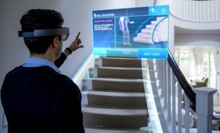 Il montascale in 3D con la realtà aumentata di Microsoft