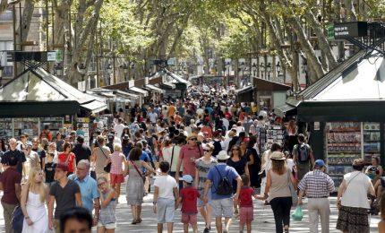 La Rambla di Barcellona una settimana dopo l'attentato