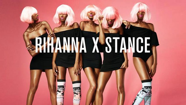 Rihanna si lancia nella moda, ha ideato una linea di calze