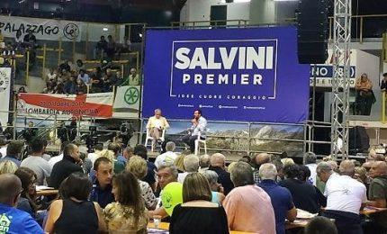Salvini show a Ponte di Legno, fra un anno ci torno da premier