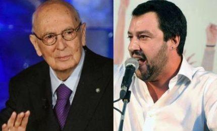 """Salvini attacca Napolitano: """"Sia processato"""". Istituzioni e sinistre lo difendono"""