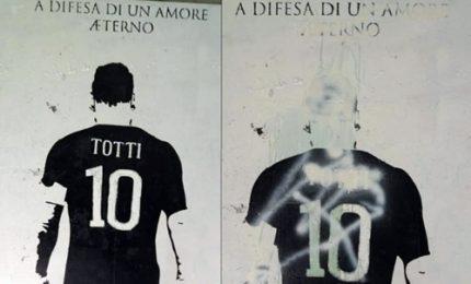 Roma, imbrattato il murale di Francesco Totti