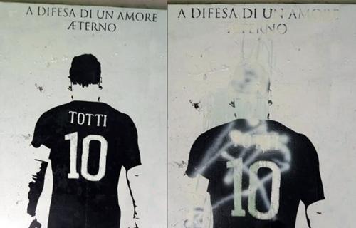 Roma, lanciata nello spazio la maglia di Totti