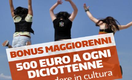 500 euro ai 18enni anche per musica, teatro, lingue