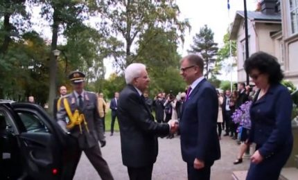 Finlandia, Mattarella incontra il premier Juha Sipila