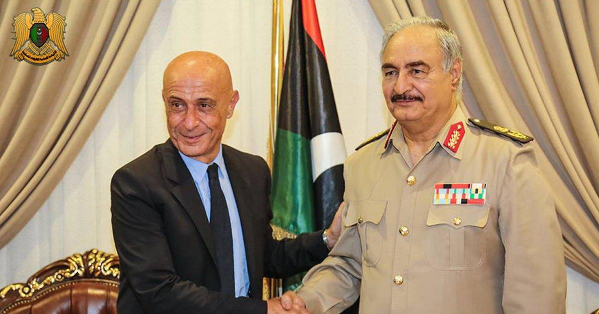 Generale Haftar a Roma, traffico esseri umani e terrorismo in agenda