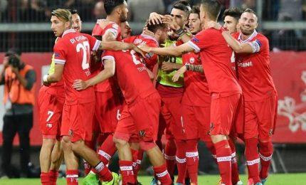 Tris del Perugia contro il Parma, Frosinone-Bari 3-2