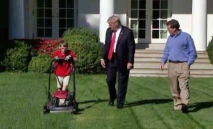 11enne falcia prato alla Casa Bianca, il sogno s'avvera