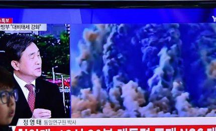 Esplode bomba H, il Mondo condanna il NordCorea