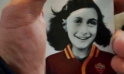 Anna Frank con maglia Roma, provocazione choc ultrà Lazio. Avviate indagini