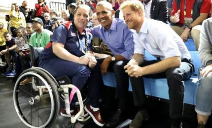 Principe Harry e Barack Obama allo stadio di Toronto