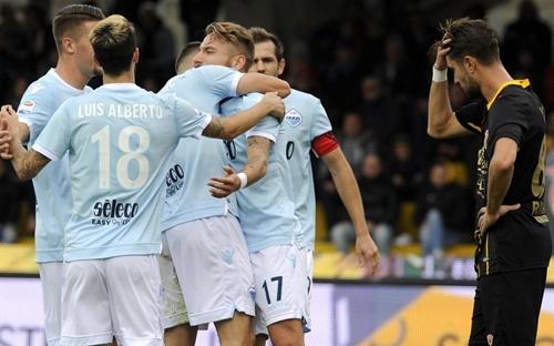 Cinquina della Lazio a Benevento, campani ko 5-1