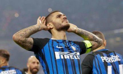 Tripletta Icardi stende il Milan. L'Inter a -2 dal Napoli