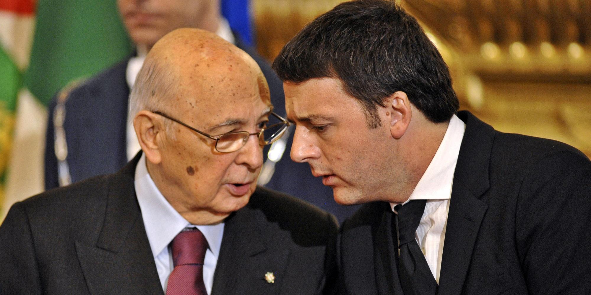 Renzi-Napolitano, la coppia scoppia