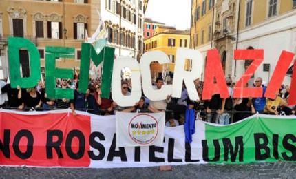 La sinistra unita in piazza contro Rosatellum