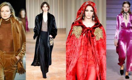 Autunno-inverno 2017/2018: glamourous e sensuale, velluto protagonista