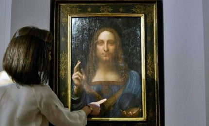 """Battuto all'asta per 450 milioni il """"Salvator Mundi"""" di Leonardo"""