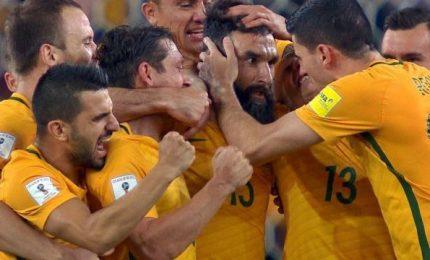 Anche l'Australia ai mondiali di calcio: battuta Honduras 3-1