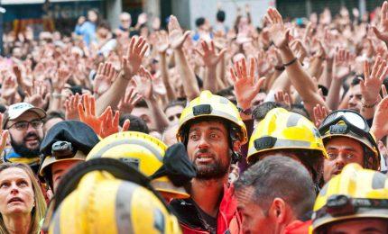 La Catalogna semiparalizzata dallo sciopero generale