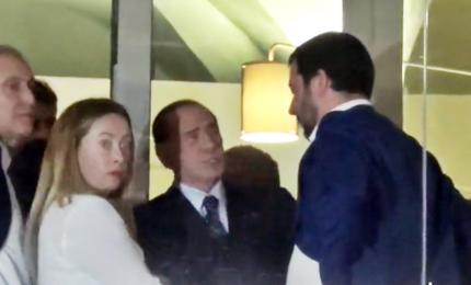 Nasce il patto dell'arancino, Berlusconi-Salvini-Meloni verso le Politiche