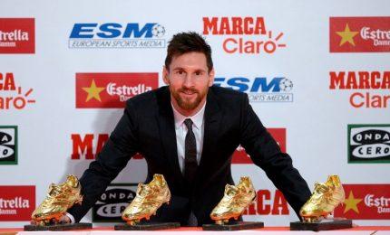 """A Messi la quarta scarpa d'oro: """"Sono solo uno che segna"""""""