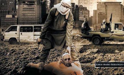 Gruppo filo-Isis pubblica fotografia del Papa decapitato