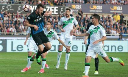 Coppa Italia ottavi: l'Atalanta batte 2-1 il Sassuolo