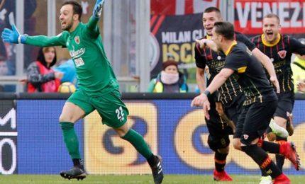 Il portiere Brignoli ferma il Milan, a Benevento è 2-2