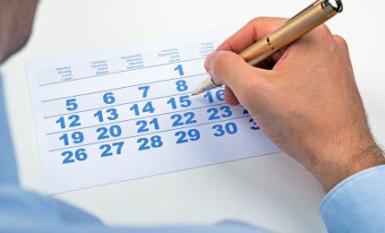 Cambia calendario fisco, le novità
