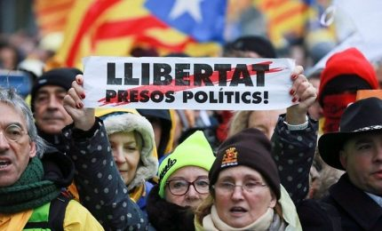 Catalogna, 45.000 manifestanti a Bruxelles per l'indipendenza