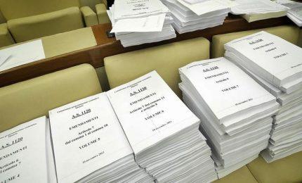 Emendamento Pd, le firme per le elezioni scendono a 375