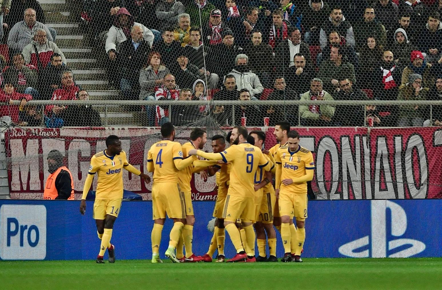 La Juve batte 2-0 l'Olympiacos e accede agli ottavi