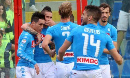 Crotone-Napoli 0-1, i partenopei campioni d'inverno