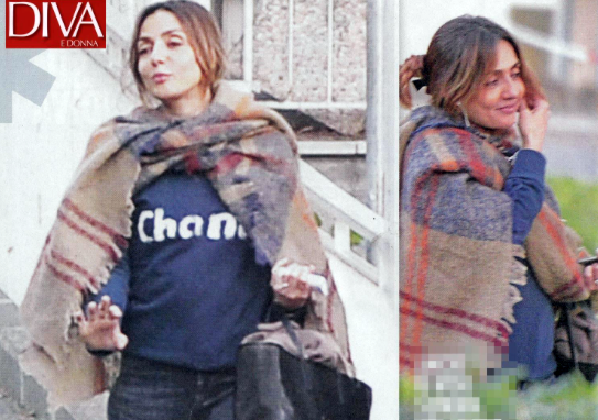 Foto con pancino sospetto per ambra angiolini l 39 attrice - Diva e donne giornale ...