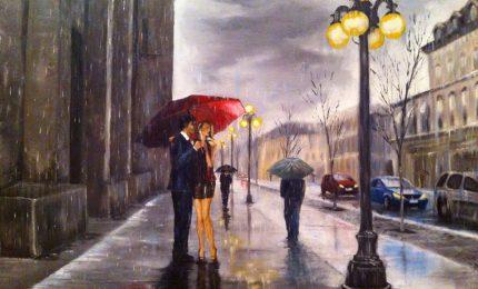 Fausto Nazer, quando la pioggia diventa cornice