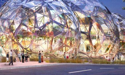 """""""The Spheres"""" di Amazon, l'ufficio diventa una foresta tropicale"""