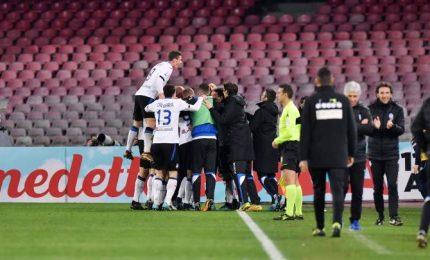 Coppa Italia, l'Atalanta vince a Napoli e vola in semifinale