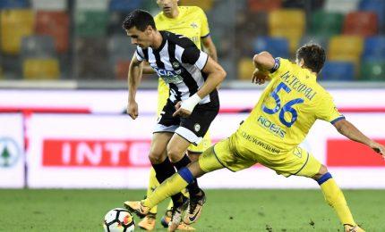 Chievo-Udinese 1-1 nel primo anticipo di serie A