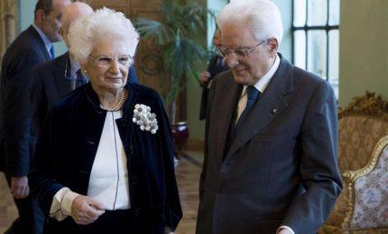 Mattarella riceve Liliana Segre al Colle nel Giorno della Memoria