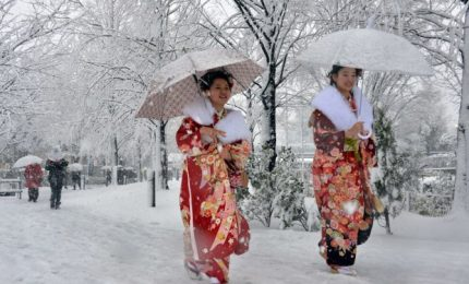 Tokyo sotto la neve, una rarità per la capitale giapponese