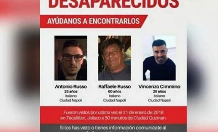Messico, tre italiani scomparsi. Indagine Procura